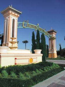 Entrance to ChampionsGate in Davenport Florida