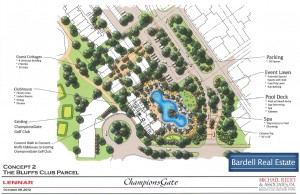 Site Map for The Bluffs Club at Champions Gate