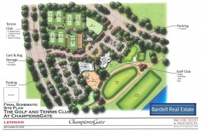 The Site Map for The Golf and Tennis Club at ChampionsGate