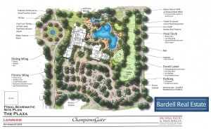 The Plaza Site Plan at Champions Gate