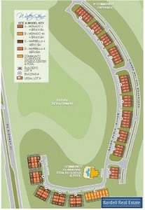 Waterstone Villas Site Map, Davenport Florida