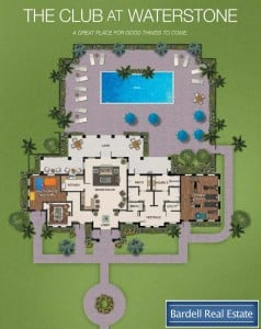 The Club Floor Plan at Waterstone Villas, Orlando Florida