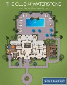 The Club Floor Plan at Waterstone Villas, Orlando Florida