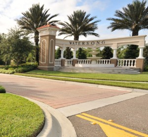 Watersong Resort, Davenport Florida Entrance