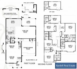 Bellair Floor Plan at Watersong Resort