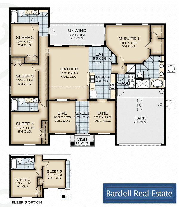 Cape coral at watersong resort for Real estate floor plan pricing