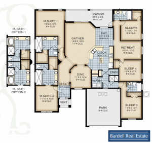Crestview Floor Plan at Watersong Resort