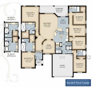 Crestview Floor Plan at Watersong Resort
