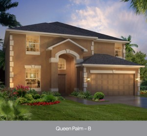 Queen Palm Elevation at Watersong Resort