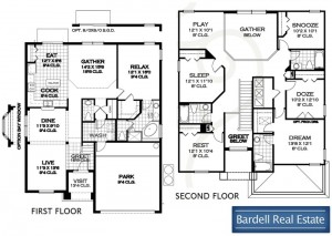 Queen Palm Floor Plan at Watersong Resort