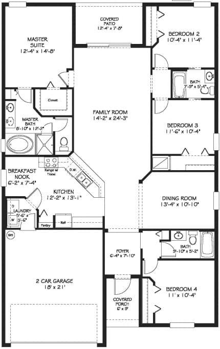 Normandy floor plan at lakeside villas for Lakeside floor plan