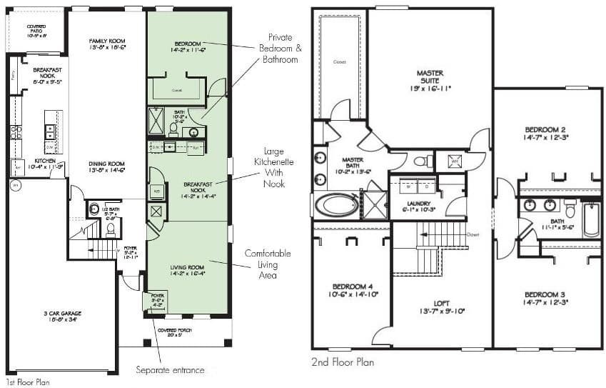 Independence floor plan at lakeside villas for Lakeside floor plan