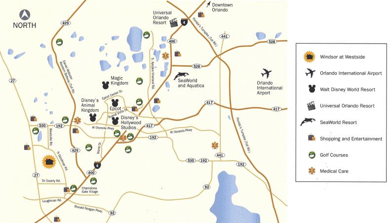 Windsor at Westside Location Map
