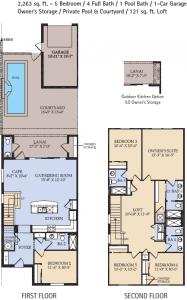 Castaway Floor Plan, Windsor at Westside