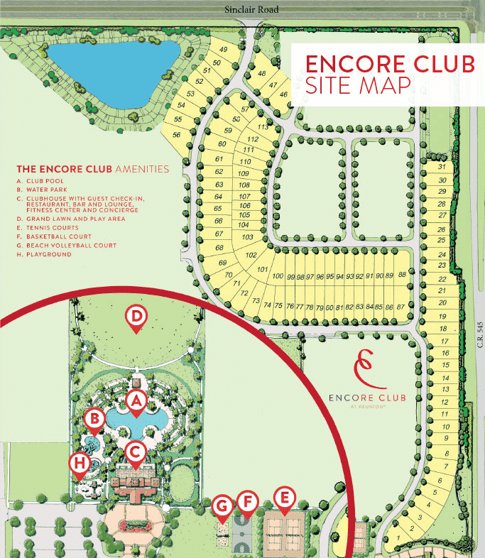 Page Map Site: Encore Club At Reunion Site Map