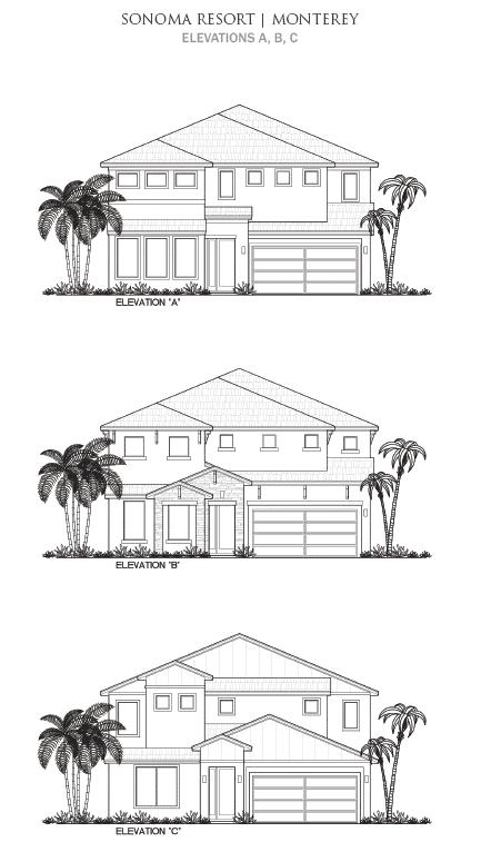 Resort Elevation Plan : Monterey elevations bardell real estate