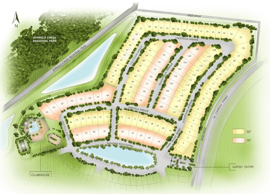 Sonoma Resort Site Map
