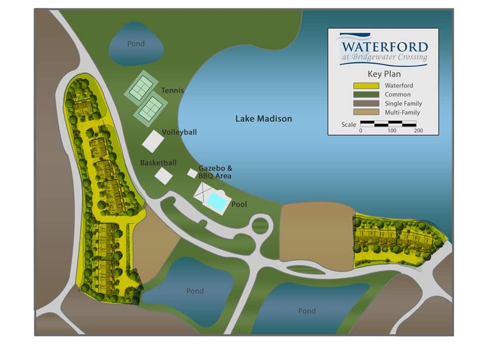Waterford at Bridgewater Crossing Site Map