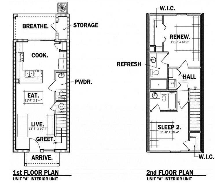 Towns at Legacy Park Floor Plans
