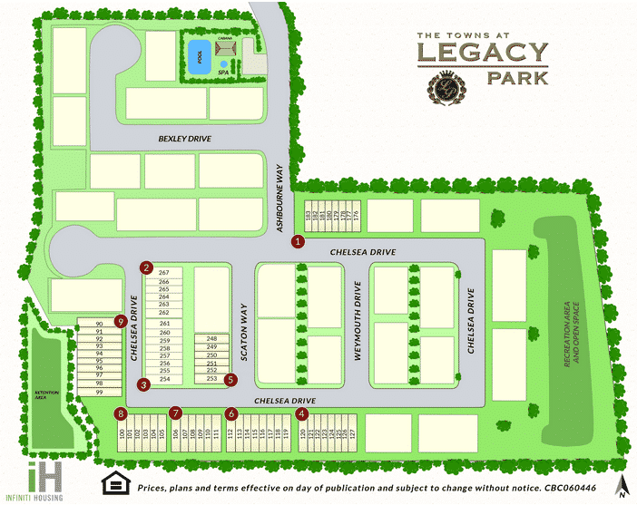 Towns at Legacy Park Site Map