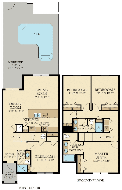 Retreat floor plans at champions gate orlanodo florida for Floor plans florida
