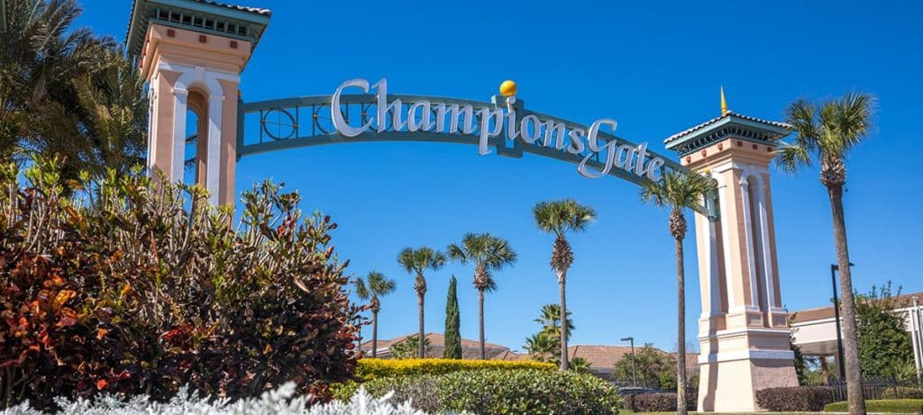 Front Entrance to ChampionsGate in OIrlando Florida