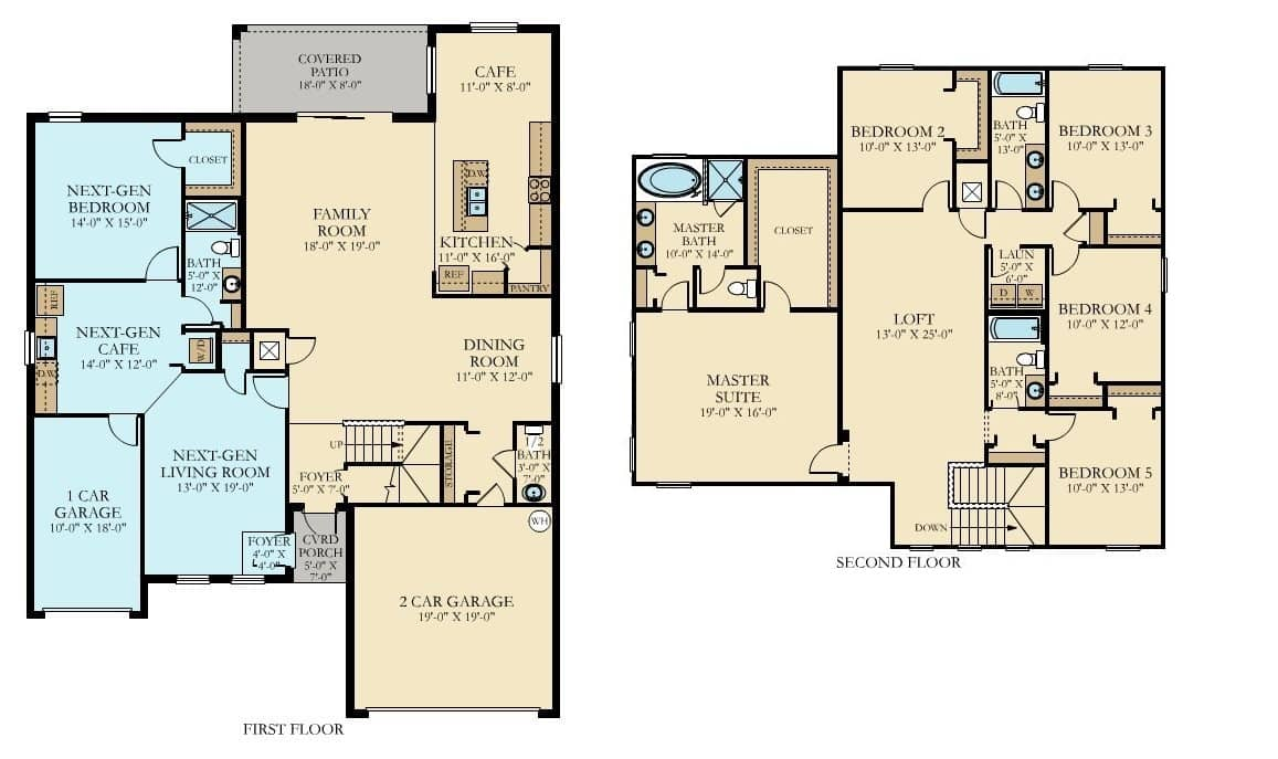 Country Club Floor Plans At Champions Gate Orlando Florida
