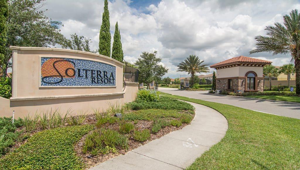 Entrance to Solterra Resort, Orlando Florida