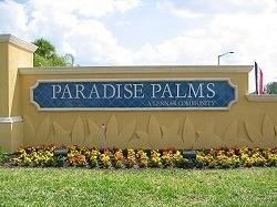 Paradise Palms Resort Community entrance sign