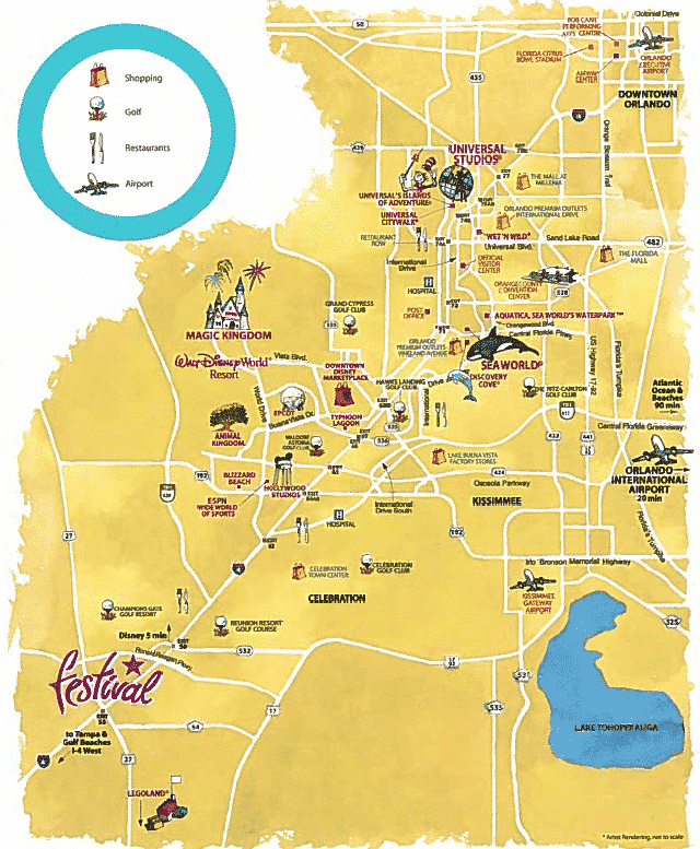 Orlando Location Map Festival by Minto Resorts Location Map