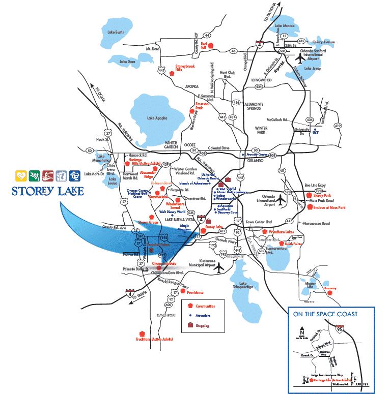 Storey Lake Location Map