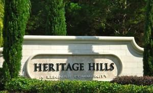 Heritage hills entrance