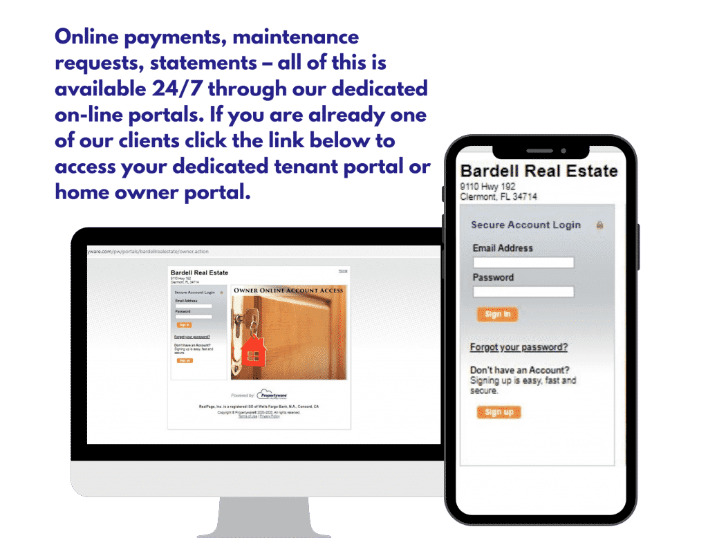 Online Owner Portal - click to access your residential property management portal
