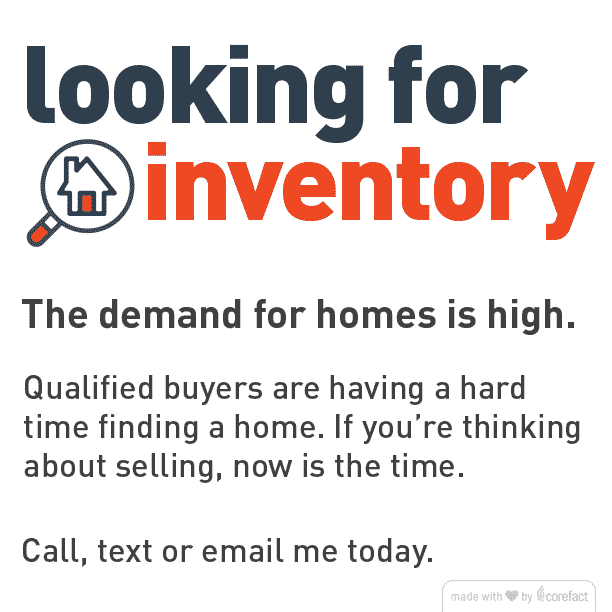 We are Looking for Inventory!!