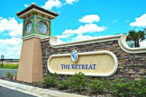 The Retreat Entrance sign in champions gate
