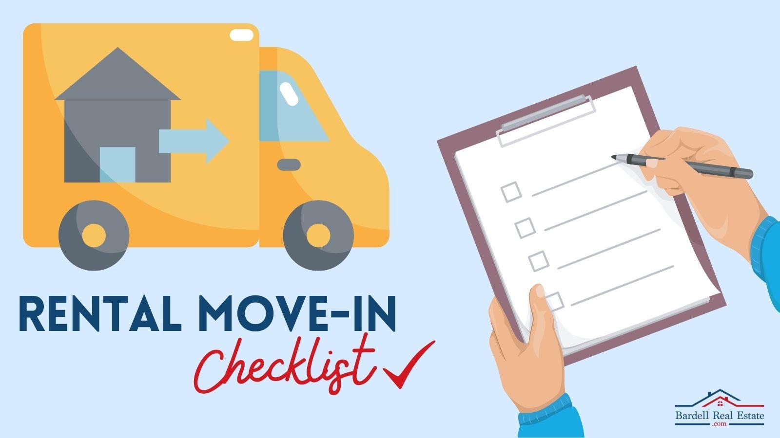 Rental Move-In Checklist sign