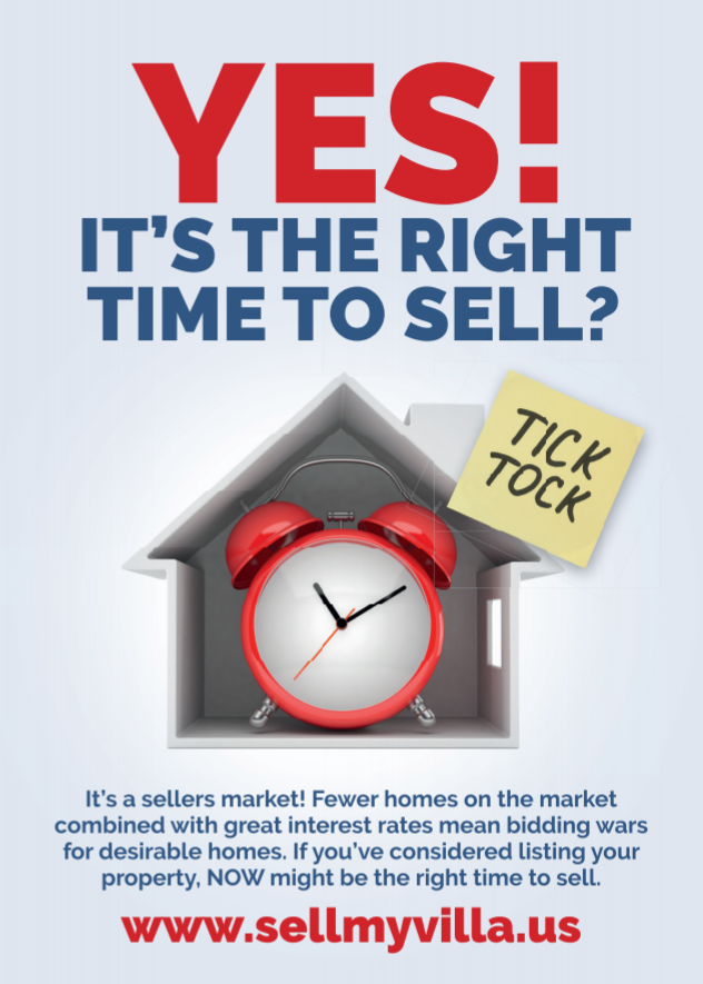 Its the right time to sell with Realvolv, time is ticking clock
