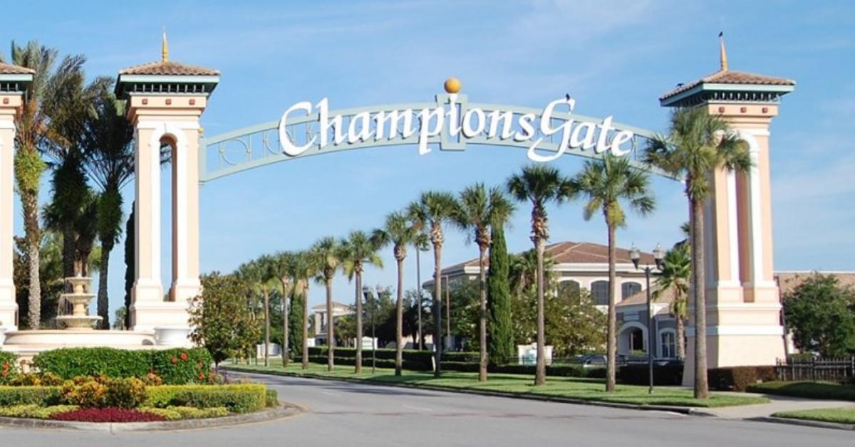 Champions gate Entrance gate